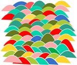 Colorful Fish Scale Pattern