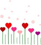 Heart Flowers Field
