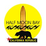 Half Moon Bay | Long Board Maverick's Surfing T-shirts &  Gifts
