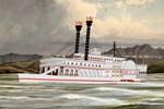 The Robert E Lee Paddle Wheeler 1866