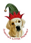 Santa's Little Helper Yellow Lab Puppy