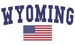Wyoming US Flag