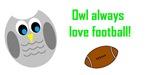 Owl always love football