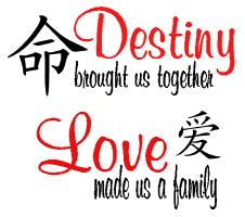 Destiny brought us together