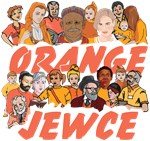 Israel Orange Jewce People Black T-Shirt