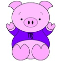 Virgo Cartoon Pig