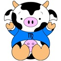 Virgo Cartoon Cow