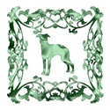 Greyhound Green Ornamental Lattice