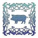 Pig Blue Ornamental Lattice