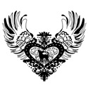 Chihuahua Black Winged Heart
