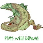 Plays With Iguanas T-Shirts