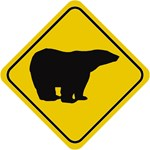 Polar Bear Crossing Sign