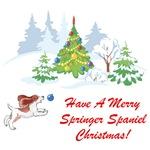 Christmas Springer Spaniel