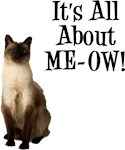 ME-OW Siamese Cat T-Shirts