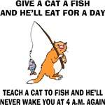 Teach A Cat To Fish T-Shirts