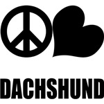 Peace Love Dachshund