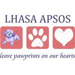 Lhasa Apso T-Shirt - Pawprints