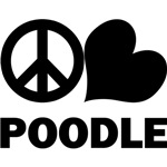 Peace Love Poodle T-Shirts