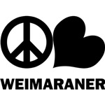 Peace Love Weimaraner T-Shirt