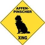 Affenpinscher Crossing Sign
