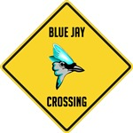 Blue Jay Crossing Sign
