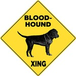 Bloodhound Crossing Sign