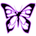 Glowing Butterfly-Purple