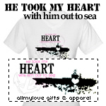 He Took My Heart Out To Sea T-Shirts and Gifts