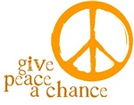 Give Peace a Chance - Orange