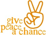 Give Peace a Chance - Hand Sign - Orange