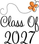 Class of 2027 Butterfly Graduate Gifts & Tees