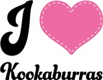 I Love Heart Kookaburras