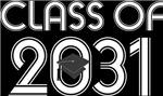 Class of 2031 Grad Hat Logo T-shirts