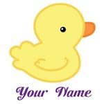 Personalized Yellow Duck Kids T-shirts