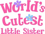 Worlds Cutest Little Sister Gifts and T-shirts