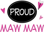 Proud Maw Maw Butterfly T-shirts and Gifts