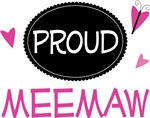 Proud Meemaw Butterfly T-shirts and Gifts