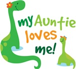 My Auntie Loves Me Dino T Shirts for Kids