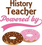 History Teacher Powered By Donuts Gift