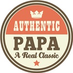 Authentic Papa Vintage Gifts and T-Shirts