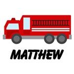Personalized Fire Truck Fireman T-shirts