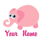 Personalized Baby Elephant Pink Tshirts