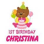 Personalized Baby's 1st Birthday Bear