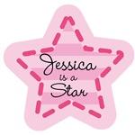 Personalized Pink Star Girls T-shirts