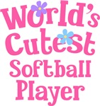 Worlds Cutest Softball Player Gifts and Tshirts