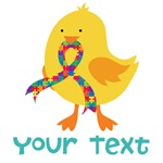 Personalized Autism Chick T-shirts
