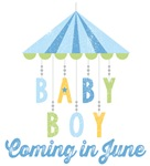 Baby Boy Coming in June Due Date Maternity