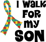 Autism I Walk For My Son T-shirts
