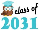 2031 Graduation Tee Shirts (owl)
