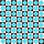 Checkerboard Black Turquoise Gifts